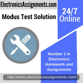 Modus Test Solution Assignment help