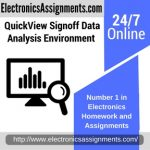 QuickView Signoff Data Analysis Environment