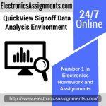 QuickView Signoff Data Analysis Environment